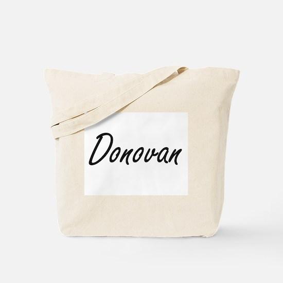 Donovan Artistic Name Design Tote Bag