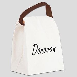 Donovan Artistic Name Design Canvas Lunch Bag