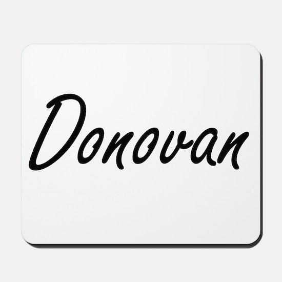 Donovan Artistic Name Design Mousepad