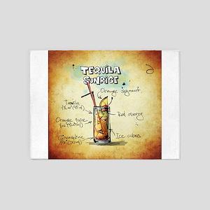 Tequila Sunrise 5'x7'Area Rug