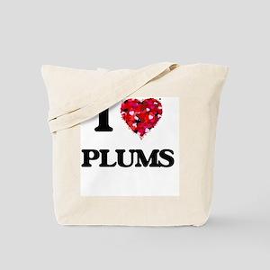 I Love Plums Tote Bag