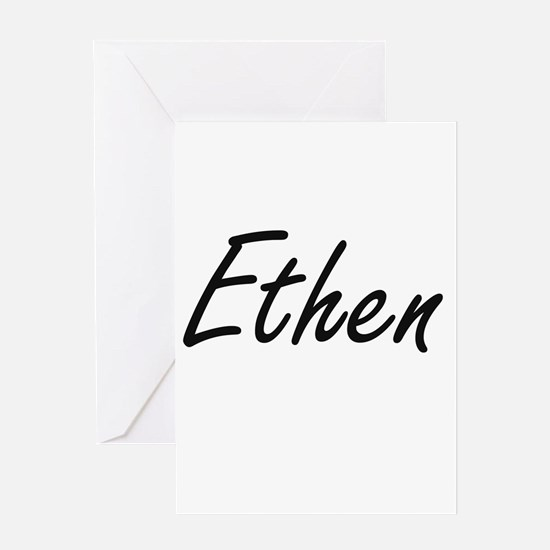 Ethen Artistic Name Design Greeting Cards