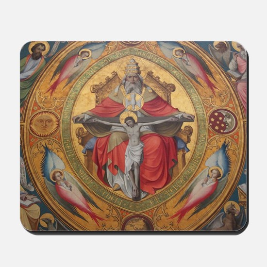 Jesus on Cross Painting Mousepad