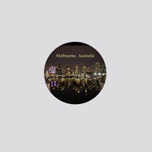 Personalisable Melbourne Australia Vic Mini Button