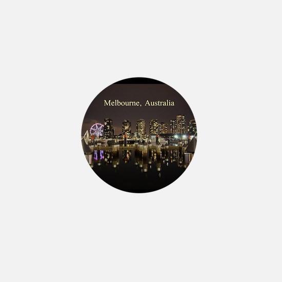 Personalisable Melbourne Australia Vic Mini Button