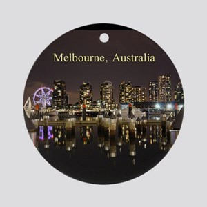 Personalisable Melbourne Australi Ornament (Round)
