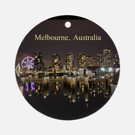 Personalisable Melbourne Australi Ornament (Round)