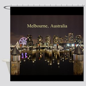 Personalisable Melbourne Australia Shower Curtain