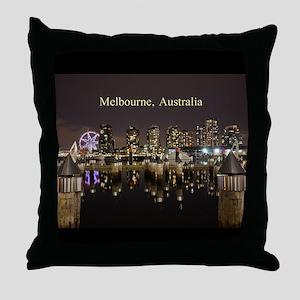 Personalisable Melbourne Australia Vi Throw Pillow