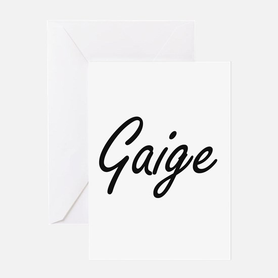 Gaige Artistic Name Design Greeting Cards