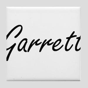 Garrett Artistic Name Design Tile Coaster