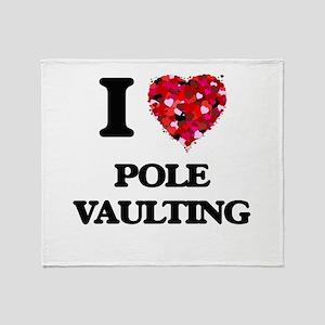 I Love Pole Vaulting Throw Blanket