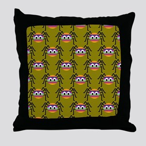 Cute Colorful Spiders Throw Pillow