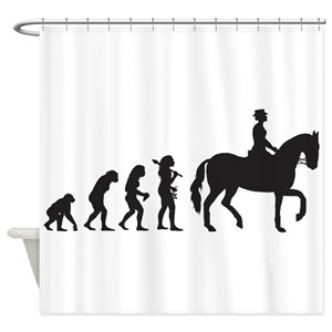 Funny Horse Shower Curtains