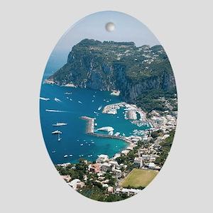 Italy, Capri  Oval Ornament