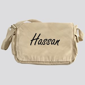 Hassan Artistic Name Design Messenger Bag