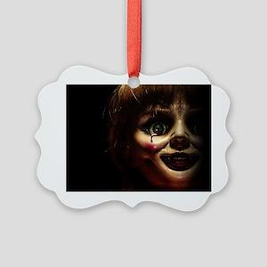 Annabelle Evil Doll Face Ornament