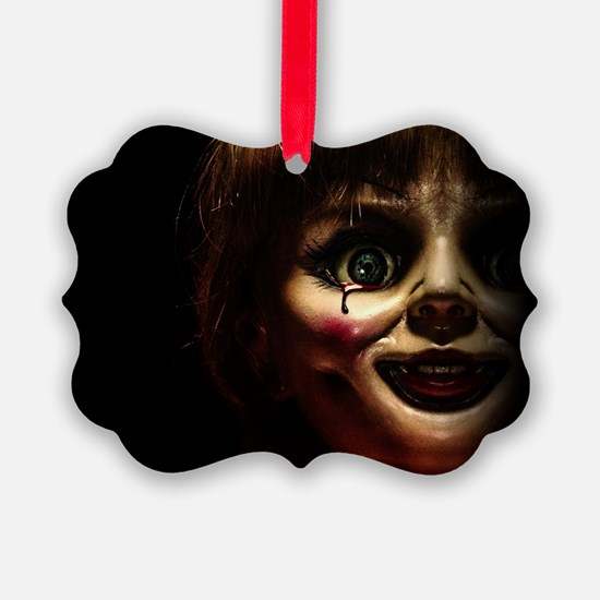Annabelle Evil Doll Face Ornament