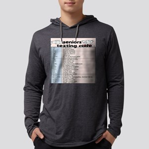 senior texting code Long Sleeve T-Shirt