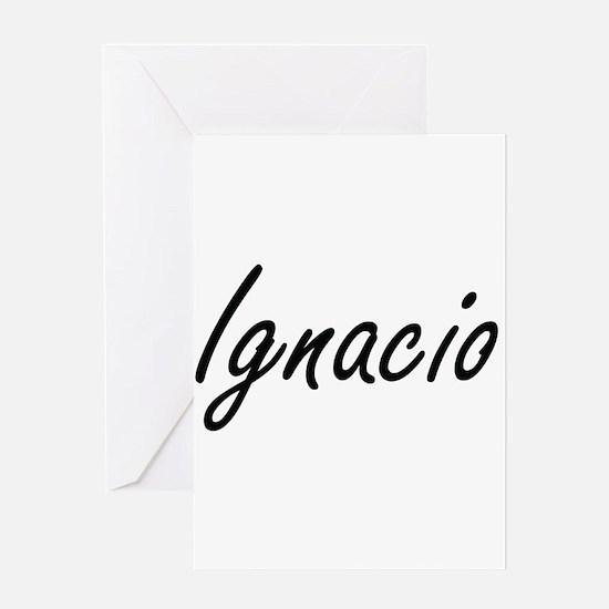 Ignacio Artistic Name Design Greeting Cards