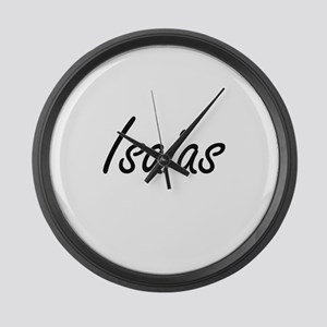 Isaias Artistic Name Design Large Wall Clock