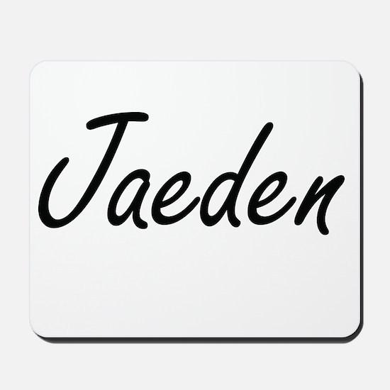 Jaeden Artistic Name Design Mousepad