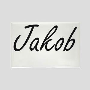 Jakob Artistic Name Design Magnets