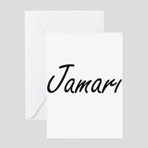 Jamari Artistic Name Design Greeting Cards