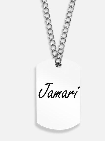 Jamari Artistic Name Design Dog Tags