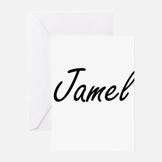 Jamel Artistic Name Design Greeting Cards