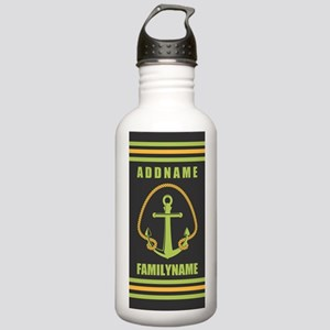 Gray and Yellow Rope a Stainless Water Bottle 1.0L