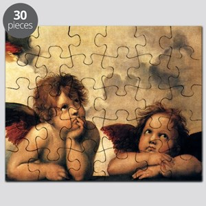 Sistine Madonna Angels by Raphael Puzzle