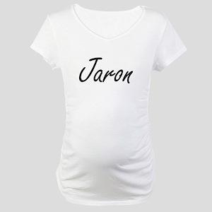 Jaron Artistic Name Design Maternity T-Shirt