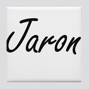 Jaron Artistic Name Design Tile Coaster