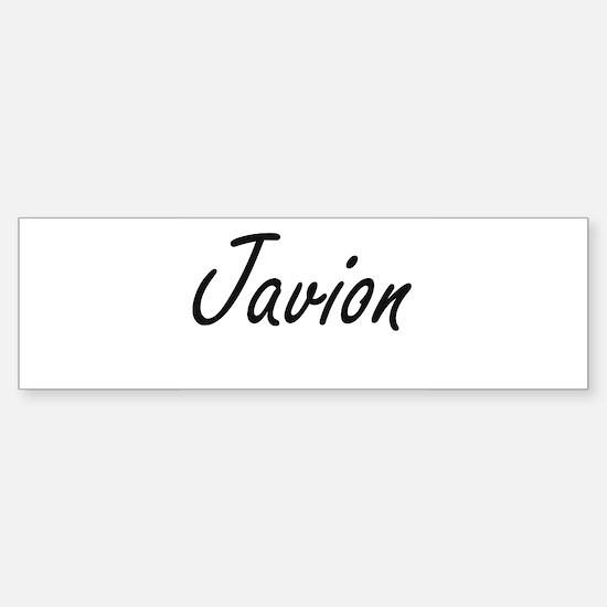 Javion Artistic Name Design Bumper Bumper Bumper Sticker
