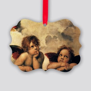 Sistine Madonna Angels by Raphael Picture Ornament