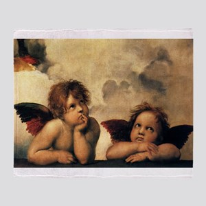 Sistine Madonna Angels by Raphael Throw Blanket