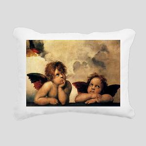 Sistine Madonna Angels b Rectangular Canvas Pillow