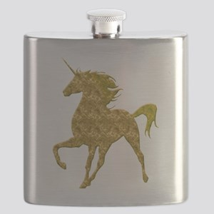 Gold Unicorn Flask