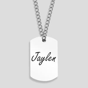 Jaylen Artistic Name Design Dog Tags