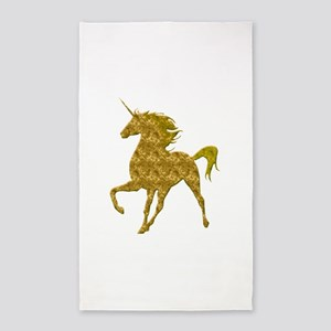 Gold Unicorn Area Rug
