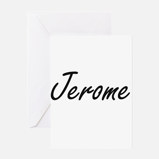 Jerome Artistic Name Design Greeting Cards