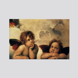 Sistine Madonna Angels by Raphael Magnets