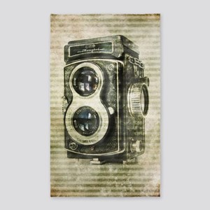 photographer retro camera Area Rug