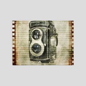 photographer retro camera 5'x7'Area Rug