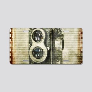 photographer retro camera Aluminum License Plate