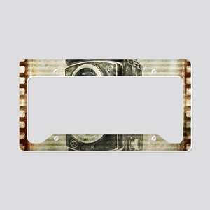 photographer retro camera License Plate Holder