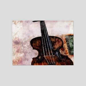 classic music violin 5'x7'Area Rug