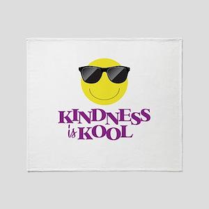 Kindness Is Kool - Throw Blanket