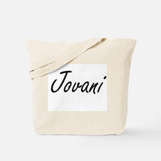 Jovani Artistic Name Design Tote Bag